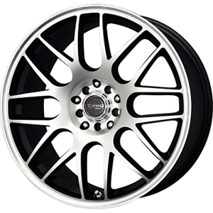 Drag DR 34 Flat Black Machined Face 18 X 8 Inch Wheels
