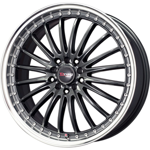 Drag DR 36 Gun Metal Machined Lip 17 X 7.5 Inch Wheels