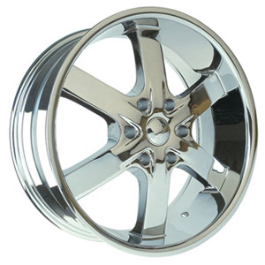 U2-55S-B Chrome 20 X 8.5 Inch Wheel