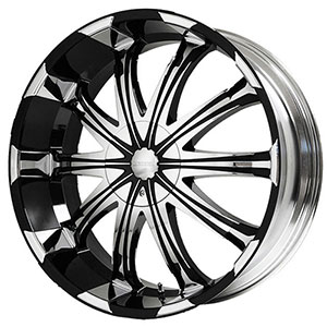 Verde Avatar Black with Machined Face 22 X 9.5 Inch Wheels
