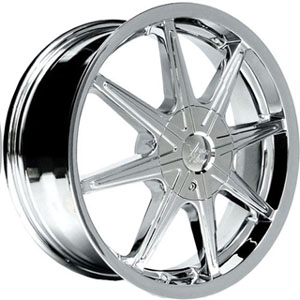 Vision 378 Kryptonite Chrome 17 X 7 Inch Wheels