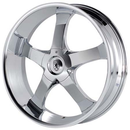 Chrome Wheel on Von Max Vm4 Chrome 24 X 9 5 Inch Wheels