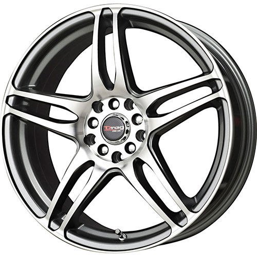 50 Inch Rims : Drag dr inch rims black machined