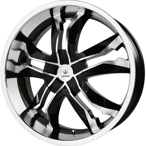 Chrysler Pacifica Rims For Sale: Verde Jaggedge 22 X 8.5 Inch Rims (Black Machined)