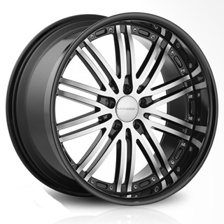 Vossen VVS 082 (Black Machined with Black Lip)