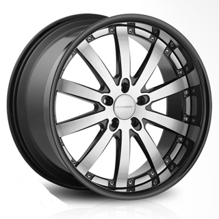 Vossen VVS 083 (Black Machined with Black Lip)