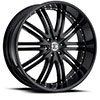 Crave Number 11 Satin Black 24 X 10 Inch Wheels