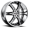 Crave Number 16 Chrome with Black Inserts 24 X 10 Inch Wheels
