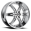 Crave Number 16 Chrome 24 X 10 Inch Wheels