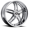 Crave Number 17 Chrome 22 X 8.5 Inch Wheels