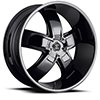 Crave Number 18 Black Chrome 24 X 10 Inch Wheels