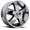 Crave Number 18 Chrome with Gloss Black Inserts 24 X 10 Inch Wheels
