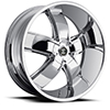 Crave Number 18 Chrome 24 X 10 Inch Wheels