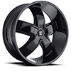 Crave Number 18 Gloss Black 24 X 10 Inch Wheels