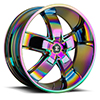 Crave Number 18 Rainbow 22 X 9.5 Inch Wheels