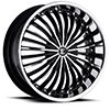 Crave Number 19 Gloss Black Machined Face with Chrome Lip 22 X 9.5 Inch Wheels