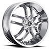 Crave Number 22 Chrome 22 X 8.5 Inch Wheels