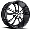 Crave Number 21 Gloss Black Machined Face with Black Lip 24 X 10 Inch Wheels