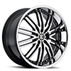 Crave Number 22 Black Machined 22 X 9 Inch Wheels