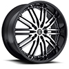 Crave Number 22 Black Machined Face with Black Lip 22 X 9 Inch Wheels