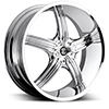 Crave Number 23 Chrome 22 X 8.5 Inch Wheels