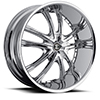 Crave Number 24 Chrome 24 X 8.5 Inch Wheels