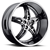 Crave Number 25 Black Chrome 22 X 9.5 Inch Wheels