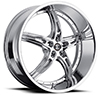 Crave Number 25 Chrome 24 X 9 Inch Wheels