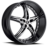 Crave Number 25 Gloss Black with Chrome Inserts 24 X 9 Inch Wheels