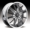 Hipnotic 360-Chrome with Black Inserts: 24 Inch
