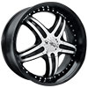 Effen Wheels 403 L Diablo Black 17 X 7.5 Inch Wheels