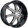 Effen Wheels 412 Hurricane Black 24 X 9 Inch Wheels