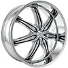 Effen Wheels 412 Hurricane Chrome 24 X 9 Inch Wheels