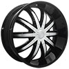 Effen Wheels 415 Warrior Black 24 X 9.5 Inch Wheels