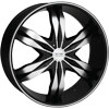 Starr Wheels 560 Rebel Black 24 X 9 Inch Wheels