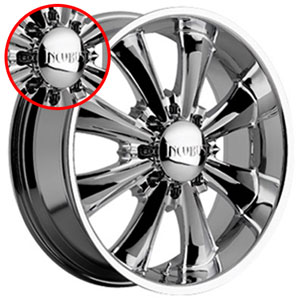 Incubus 703 Game Over Chrome Cap (8 Lug) (e68)