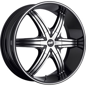 Avenue 606 Gloss Black Machined Face Black Lip Wheel Packages