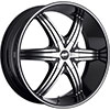 Avenue A606 Black Machined Face Black Lip 17 X 7.5 Inch Wheel