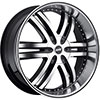 Avenue A607 Gloss Black Machined Face Black Lip 24 X 9.5 Inch Wheel
