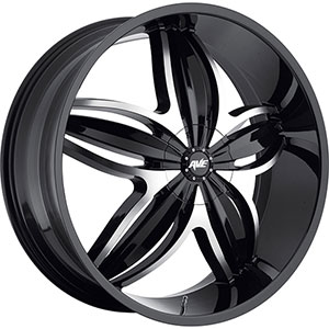 Avenue 609 Gloss Black Machined Face Black Lip Wheel Packages