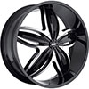 Avenue A609 Gloss Black Machined Face Black Lip 20 X 8 Inch Wheel