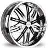 Divinity D10 Chrome 24 X 10 Inch Wheels