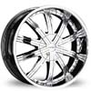 Divinity D12 Chrome 24 X 10 Inch Wheels