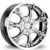 Divinity D28 Chrome 17.5 X 7.5 Inch Wheels