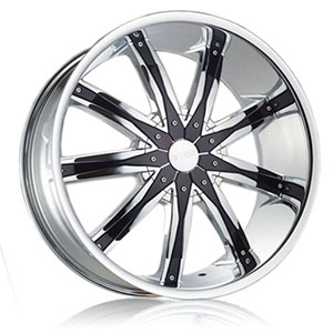 DCenti DW 29 Chrome with Black Inserts Wheel Packages