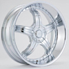 Effen Wheels 403 Chrome 22 X 8.5 Inch Wheels