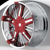 Hipnotic ZEN-Red Center with All Chrome Inserts: 22 Inch