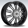Crave Number 1 Black 22 X 8.5 Inch Wheels