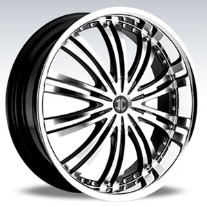 Crave Number 1 Glossy Black with Machine and Lip 17 X 7.5 Inch Wheels