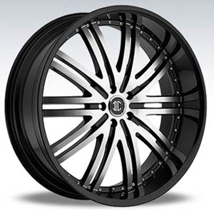 Crave Number 11 Black Machine Black Lip 26 X 10 Inch Wheels
